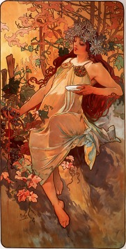 Outono por Alfons Maria Mucha - Art Renewal Center Museum, image 4426, Domínio público, https://commons.wikimedia.org/w/index.php?curid=8879671