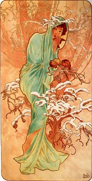 Inverno por Alfons Maria Mucha - Art Renewal Center Museum, image 4423, Domínio público, https://commons.wikimedia.org/w/index.php?curid=8879644